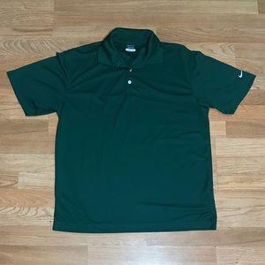 Nike Golf - Men's Dri-Fit Green Polyester Polo (L)